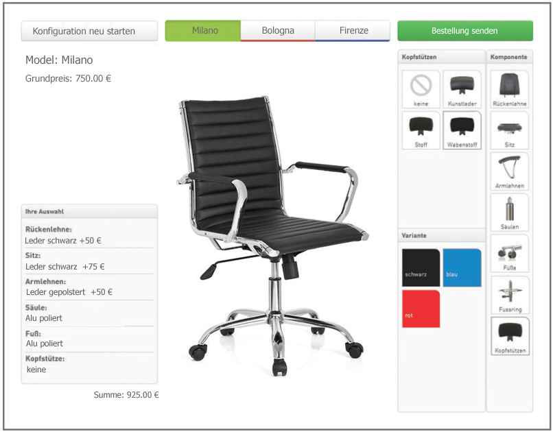 Product Configurator Website