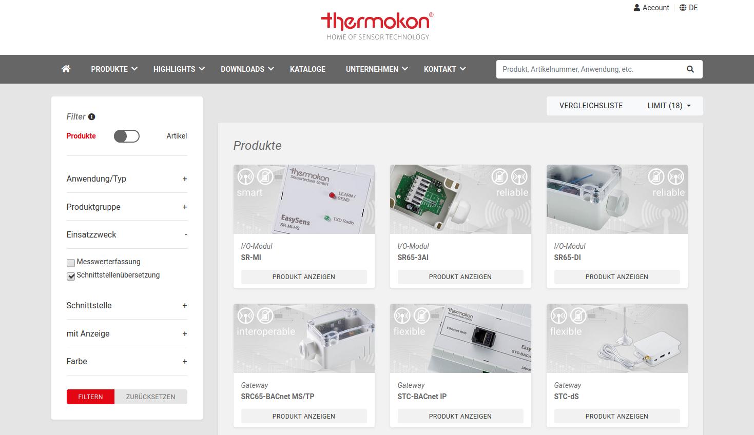 Thermokon Direct: der B2B-Shop für Geräte von Thermokon