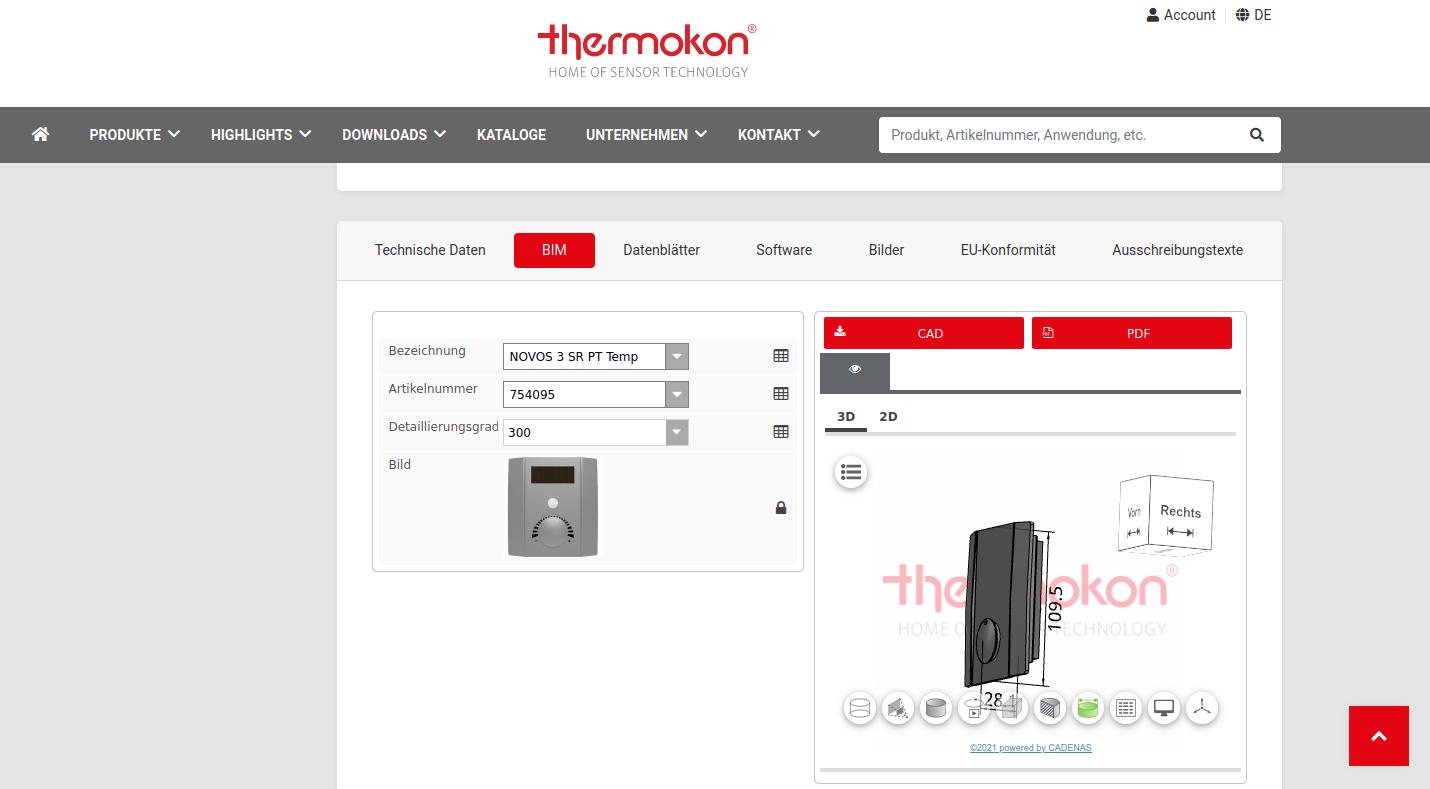 """""""Thermokon Direct mit BIM: CAD Planungsdaten für viele Produkte"""